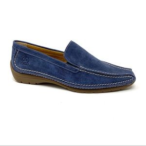 Gabor navy stitched loafer Nubuck